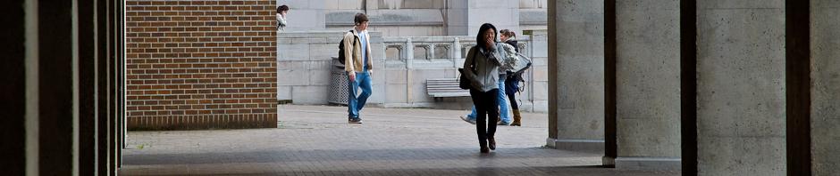 students on UW campus